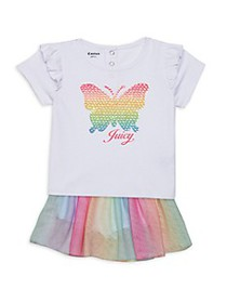 Juicy Couture Baby Girl's 2-Piece Butterfly Top &