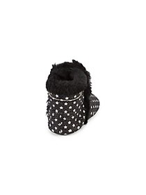 Old Soles Baby Girl's Aspen Faux Fur-Lined Leather