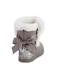 Juicy Couture Girl's Burbank Embellished Faux Fur-