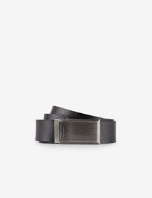 Armani LEATHER BELT WITH CONTRASTING LETTERING
