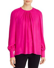 Elie Tahari - Eliza Pleated-Front Top
