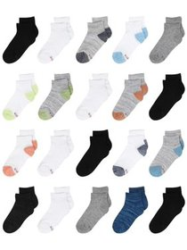Hanes Boys Socks, 20 Pack Ankle Super Value Socks