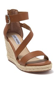 Steve Madden Lala Leather Espadrille Wedge Sandal