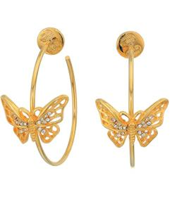 Kenneth Jay Lane Gold w\u002F Crystal Butterfly Me