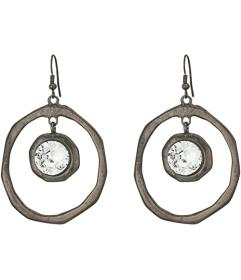 Kenneth Jay Lane Large Hoop Drop Fishhook Earrings