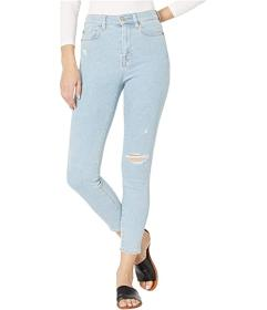 7 For All Mankind Luxe Vintage High-Waist Ankle Sk