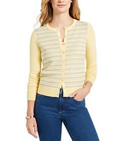 Striped Button Cardigan, Created for Macy's