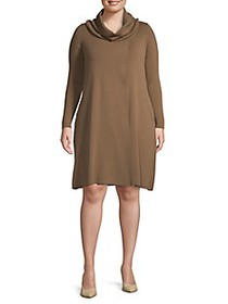Lafayette 148 New York Plus Cowlneck Wool Tunic Sw