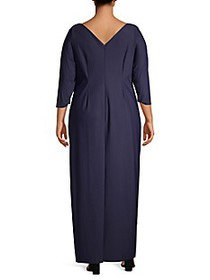 Alex Evenings Plus Side Ruched Gown