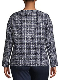 Lafayette 148 New York Plus Emelyn Tweed Jacket