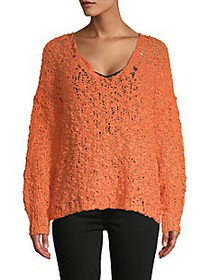 Free People Scoopneck Cotton-Blend Sweater