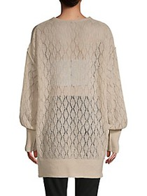 Free People V-Neck Balloon-Sleeve Sweater