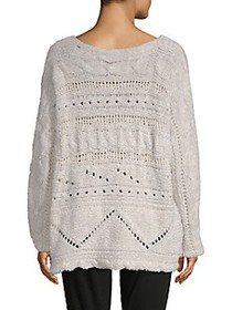 Free People ​Against the Tide Cotton-Blend Sweater