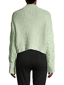 Free People Cable-Knit Cotton-Blend Sweater
