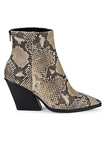 Dolce Vita Issa Snakeskin-Print Leather Ankle Boot