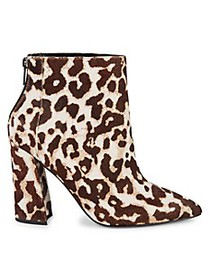 Charles David Snow Leopard Calf Hair Point-Toe Boo