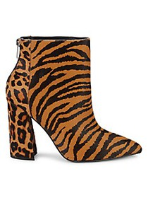 Charles David Tiger & Leopard Calf Hair Point-Toe