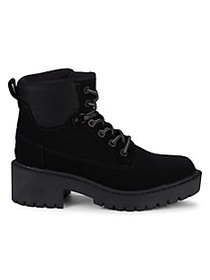 Kendall + Kylie Faux Suede Combat Boots