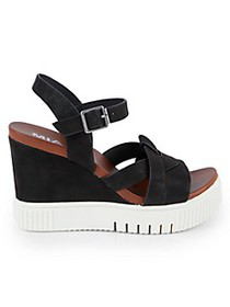Mia Marcela Faux-Leather Wedge Sandals