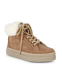 Saks Fifth Avenue Faux Shearling-Lined & Suede Pla