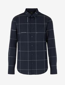 Armani COTTON SHIRT WITH CONTRASTING STRIPES