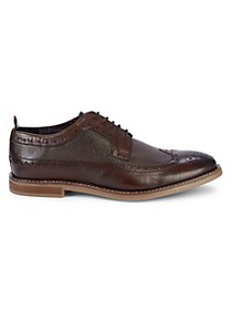 Ben Sherman Brent Longwing Perforated Leather Derb