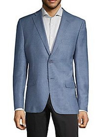 Calvin Klein Slim-Fit Wool & Linen-Blend Blazer