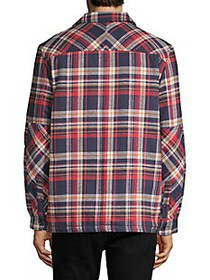 French Connection Tartan Twill Faux Fur-lined Shir