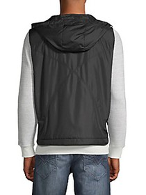 Versace Collection Zip-Front Hooded Vest