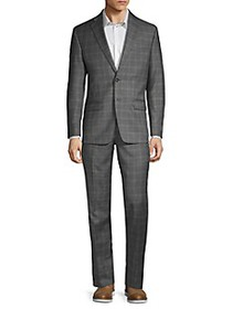 Calvin Klein Two-Piece Extra Slim Fit Plaid Wool S