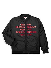 True Religion Boy's Heavyweight Bomber Jacket