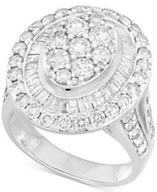 Diamond Halo Ring (3 ct. t.w.) in 14k Gold or Whit