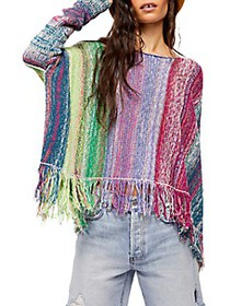 Free People Radiant Knit Striped Pullover