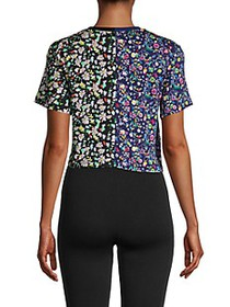 Cynthia Rowley Embroidered Cropped T-Shirt