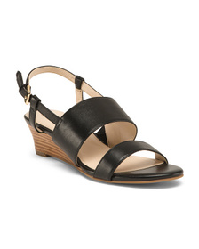 Reveal Designer Leather All Day Comfort Wedge Sand