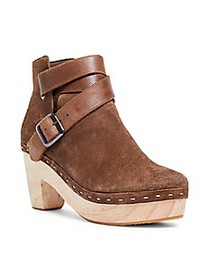 Free People Bungalow Suede Clog Booties