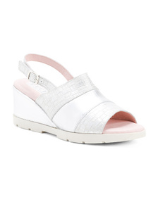 PUCHE Made In Spain Wedge Leather Sandals