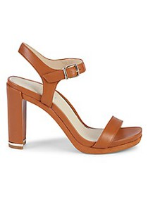 Kenneth Cole New York Andra Leather Block-Heel San