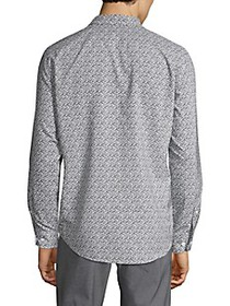 Perry Ellis Printed Long-Sleeve Shirt