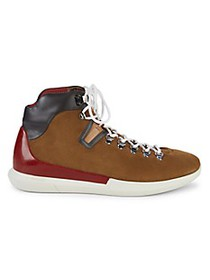 Bally Suede & Leather Lace-Up Boots