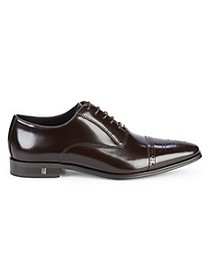 Versace Collection Brogue Cap-Toe Leather Oxfords