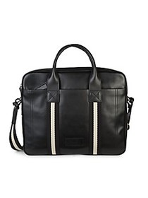 Bally Tedal Side Tape Leather Briefcase