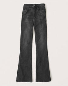 Ultra High Rise Flare Jeans, WASHED BLACK