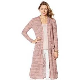 """""""As Is"""" G by Giuliana Space-Dyed Duster Cardigan"""