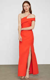 BCBG Off-Shoulder Slit Gown
