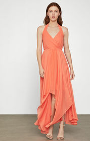 BCBG Chiffon Halter Dress