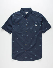 SALTY CREW Provisions Mens Button Up Shirt