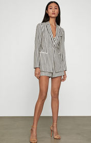 BCBG Cotton Linen Striped Blazer