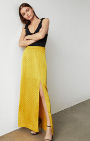 BCBG Satin Polka Dot Skirt