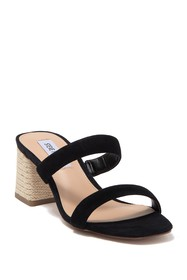 Steve Madden Donna Espadrille Leather Block Heel M